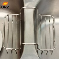 Wholesale kitchen drain basket resale online - ORZ Sink Storage Rack Stainless Steel Sided Sink Strainer Basket Kitchen Cleaning Filter Water Draining Holder Storage Basket SH190918