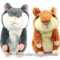Wholesale Speaking kid Toy Russian Talking hamster wooddy time stuffed animal toys repeat what u said in any language