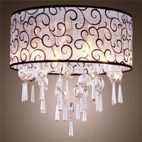 elegantes luces de techo de cristal al por mayor-Forma redondo elegante de techo de cristal de la lámpara pendiente de la luz con estilo moderno Crystal LED lámpara de luz de cristal Lámparas pendiente de la lámpara