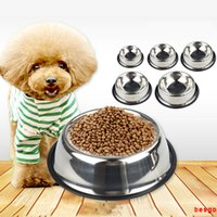 Wholesale stainless steel cat bowls for sale - Group buy Stainless Steel Pet Dog Cat Feeding Bowl Water Dish Feeder cm cm cm cm cm Dog Bowls Puppy Cat Food Drink Water Bowl Dish BC BH3127