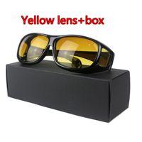 nachtgläser groihandel-HD Night Driving Motorrad Brille Nachtsichtgerät UV400 Schutzbrille Anti Glare Outdoor polarisierte gelbe Linse über Wrap Around Brille