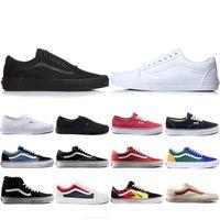 eski moda yeni ayakkabı toptan satış-Vans Ucuz Yeni Van KAPALı DUVAR eski skool KORKUSU KORKUSU erkekler kadınlar Için tuval sneakers YACHT CLUB MARSHMALLOW moda paten rahat ayakkabılar