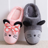 Wholesale toddler slippers resale online - Winter Teenager Floor Toddler Baby Shoes Women Slippers Warm Kids House Shoes For Girl Christmas Mouse Indoor Children Slippers