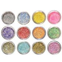 ayakları örten tozluk toptan satış-PET Düzenli Glitter Nail Art Holo 1-128 1-96 Glitters Toz Toz Pullarda Shinny Sanat Şenlikli Dekorasyon DIY A03 Malzemeleri