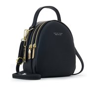 Wholesale stylish backpack bag for women for sale - Group buy Women Small Stylish Backpack Female Mini Messenger Crossbody Bag For Ladies Multifunctional Many Pockets High Quality