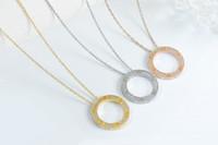 ingrosso perle faux lunghe perline-Collana esercitazione completa di design di lusso Carter lettera anello placcato 18 carati collana di titanio paio d-acciaio