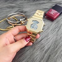 Wholesale geneva women luxury watches resale online - 2017 Selling Famous Women High Quality Luxury Fashion Bling Casual Crystal Stainless Steel Diamond Strap Quartz Waterproof Geneva Watches