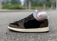 Wholesale jacks brown resale online - 2019 New Release Brown Travis LOW OG TS SP Mocha Men Cactus Jack Dark Scotts Basketball Shoes Sport Sneaker