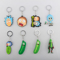 Wholesale pendants collection online - Wellcomics Rick and Morty Pickle Rick Council of Ricks MEESEEKS Rubber Pendant Keychain Keyring Ornament Cosplay Collection Gift