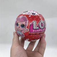 série de bonecas venda por atacado-10 cm série 3 Red Can light glitter edição limitada boneca New Dolls Girls 'Egg brinquedos destacável kid toy.