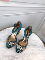 tênis de salto alto venda por atacado-Venda quente-nova moda feminina sapatos de salto alto vestido de diamante decoração Teal, Borgonha e roxo tamanho 34-41 altura do calcanhar 10 cm