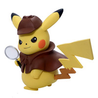 Wholesale dolls package resale online - 13cm Detective Pikachu Action Figures Doll Toy funko POP Pikachu Video Doll Come with Color Box Packaging Collection Gift