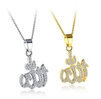 Wholesale high quality cubic zirconia stones resale online - High Quality K Brass Gold Plated Necklace Muslim Gold Necklace with Cubic Zirconia Stones Your Fashion Your Styles
