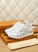 primeiro sapato baixo venda por atacado-Novos sapatos casuais dos homens da marca high-end francês confortável andando esportes moda casual dos homens primeira camada de malha sapatos 40-44 jardas frete grátis