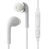 kulaklık kulak tıkaçları toptan satış-S4 3.5mm fiş beyaz ses kontrolü ile siyah kulak içi kulaklıklar ve mikrofon kulaklık kulaklık Samsung Galaxy S4 S5 S6 Not 5