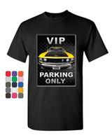 camisa amarilla del músculo al por mayor-VIP Parking Only T-Shirt Yellow 302 Muscle Car Camiseta para hombre