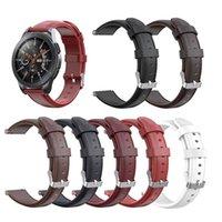 aktiver gang großhandel-Echtes echtes leder uhrenarmband für samsung galaxy watch / active / gear sport / s2 klassische band handschlaufe armband armband armband 20mm 22mm
