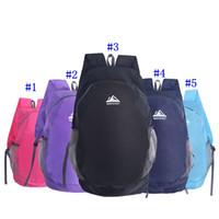 mochila de viaje mochila al por mayor-Portátil Cómodo Durable Impermeable Plegable Empaquetado Ligero Mochila de viaje de viaje al aire libre Mochila Bolsa de viaje 5 colores MMA2452-3
