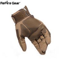 Wholesale military gloves man for sale - Group buy Fashion Gloves Men Full Finger Swat Combat Military Gloves Militar Carbon Shell Anti skid Airsoft Paintball Gloves T190618