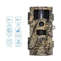 ev kameraları gizleme toptan satış-BOBLOV CT006 Avcılık Video Kamera 20MP 1080 p 30fps Trail kamera Çiftlik Ev Güvenlik 0.4 s Tetik Zaman Yaban Hayatı Gizli fotoğraf Tuzak