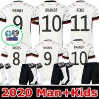 adam gömlek almanya toptan satış-MEN + ÇOCUK Almanya 2020 futbol formaları Deplasman Hummels Kroos Draxler REUS MULLER Götze Kimmich futbol forması üniforma kiti