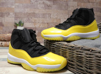 Wholesale fishing shoes size 11 for sale - Group buy 2019 New Arrive Jumpman XI Black Yellow Basketball Shoes High Quality s Black White Blue Red Mens Sports Sneakers Size