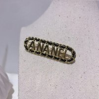 metal broşlar toptan satış-Kadınlar Tasarımcı Harf Metal broşlar Harf Lüks Broş Suit Yaka Pin Moda Takı Aksesuar Yüksek Kalite