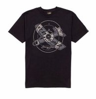 oro objetivo al por mayor-Benny Gold BULLSEYE GLIDER Negro plateado Target Aim Camiseta de manga corta para hombre Tops geniales Camiseta corta y divertida para hombre