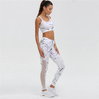 sporttrainingsweste großhandel-Frauen Zweiteiler Lauftraining Yoga-Frauen-Sport-Abnutzungs-Weste Tank Top Lange Hose Outfit Set Grenadine Yoga Neu