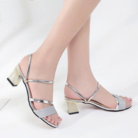 Wholesale korean fashion sandals for sale - Group buy Sandals Women s Summer Outer Wear New Style Korean style Fashion Semi high Heeled Double Purpose Versatile Students Peep To