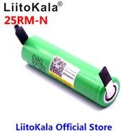 baterias 6v venda por atacado-2018 descarga LiitoKala 18650 2500mAh bateria recarregável 3.6V INR18650 25R M 20A + DIY Nickel