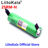 Wholesale rechargeable lithium battery 6v resale online - 2018 LiitoKala mAh Rechargeable battery V INR18650 R M A discharge DIY Nickel