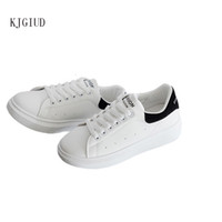 новые весенние белые туфли оптовых-2019 spring and autumn new casual sports shoes women's wild thick-soled students white shoes tide sneakers women scarpe donna