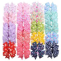 Wholesale color baby pins for sale - Group buy Sunflower Baby Bow Hairpin Lovely Daisy Dot Printed Ribbed Band Bobby Pin Grils Kids Barrette Cute Headwear for Grils Gifts C82002