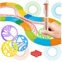 Wholesale magic ruler toy for sale - Group buy Child Art Painting Ruler Track Model Educational Toys Drawing Magic Flower Ruler Set Children s toys gift