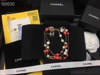 créateurs de bijoux de pierre gemme achat en gros de-bijoux de créateur de luxe pour femmes collier rose perles de pierres précieuses givrées chaînes de mode femmes chaîne de chandail