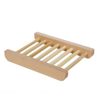 fregaderos de madera al por mayor-Jaboneras de madera para baño Jabonera de bambú para ducha Mostrador de baño Lavaplatos Jabón de madera