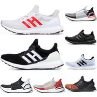 en kaliteli markalı spor ayakkabıları toptan satış-Adidas boost 19 ultraboost 5 Ultra 3 4 Boost Spor Açık Ayakkabı Moda Marka Primeknit Üçlü Beyaz Siyah En Kaliteli Erkek Bayan Spor Sneakers