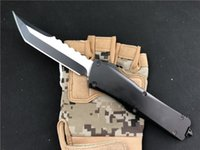Wholesale best nylon knife resale online - Best Outdoor Survival tool knife KIMTER holes Hellhound Tanto Double action Automatic knives EDC Camping gear w nylon sheath P52Q