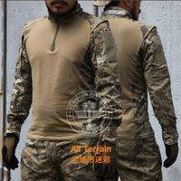 taktisches t-shirt großhandel-All Terrain Moss und Flechten Sand Camo Iron Camo Tactical Ombat TDU Schnelle Assault Bergsteigen Shirt