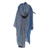 bufandas de gasa vintage al por mayor-2019 Boho bufanda de gasa mujer señora Vintage largo suave impreso bufandas mantón primavera verano abrigo hijab bufanda bufanda mujer # H2Z1