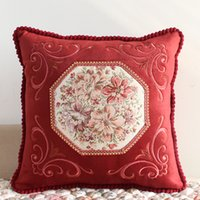 ingrosso cuscini ricamati d'epoca-epoca di lusso divano in tessuto di alta qualità cuscino del cuscino di modo ricamato ofhead grande cuscino cuscino nucleo