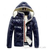 vestes style oxford achat en gros de-2019 Designer Vestes Veste D'hiver Hommes Blanc Duvet De Canard Veste Avec Hoodies Noir Bleu Doudoune Homme Hiver Marque Manteau Parka