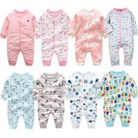 Wholesale white infant pajamas for sale - Group buy Pijama Infantil Baby Clothes Girls Pajamas Overalls Toddler Boys Pajamas Newborn Infant Jumpsuit Baby Romper Climb Clothin Y19050602