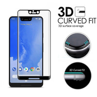 Wholesale For Google Pixel XL XL Full Cover D Curved Tempered Glass Edge To Edge Screen Protector With Retail Package