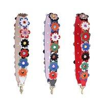 kırmızı dudakları çiçekler toptan satış-MeeTee B-S001 Dudaklar desen Kırmızı dudak bahar omuz diyagonal ayarlanabilir çanta Aksesuarları Çiçek PU Deri Çanta Askısı Çiçekler Kemer