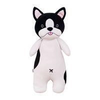 bulldog oyuncakları toptan satış-Husky yastık süper yumuşak peluş oyuncak Bulldog yastık Noel hediyesi kız arkadaşı doğum günü hediyesi çocuklara güzel oyuncaklar