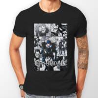ingrosso nota di morte nera-Death Note Ryuk Manga Strip Kira L Anime Maglietta Unisex T-Shirt Tee ALL SIZES Uomo Donna Unisex Fashion tshirt Spedizione Gratuita nero