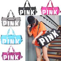 5 Colors Canvas Secret Storage Bag Pink Duffel Bags Unisex Travel Bag  Waterproof Victoria Casual Beach Exercise Luggage Bags 10pcs 631c370a7e3ae