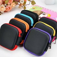 Wholesale folding spinner resale online - fashion Mini Zipper Earphone box Protective USB Cable Organizer Spinner Storage Bags Headphone Case PU Earbuds Pouch Home StorageT2I5599